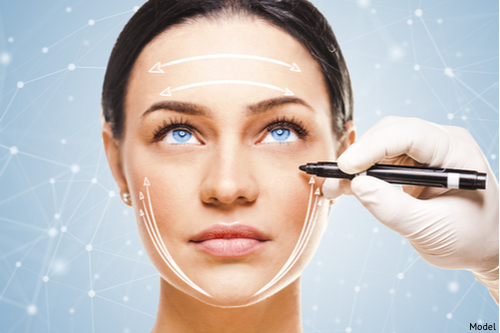 A woman at her consultation for a cosmetic surgery called a facial rejuvenating treatment.-img-blog